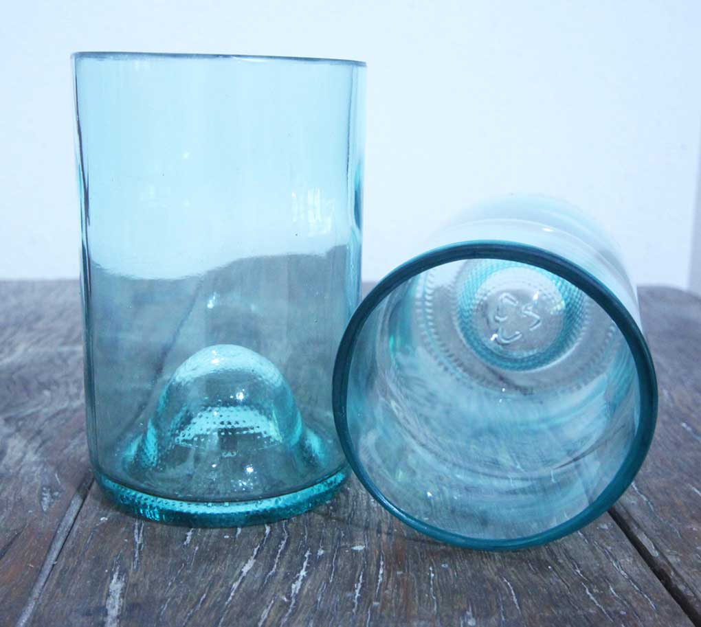 drinking glasses made from bottle