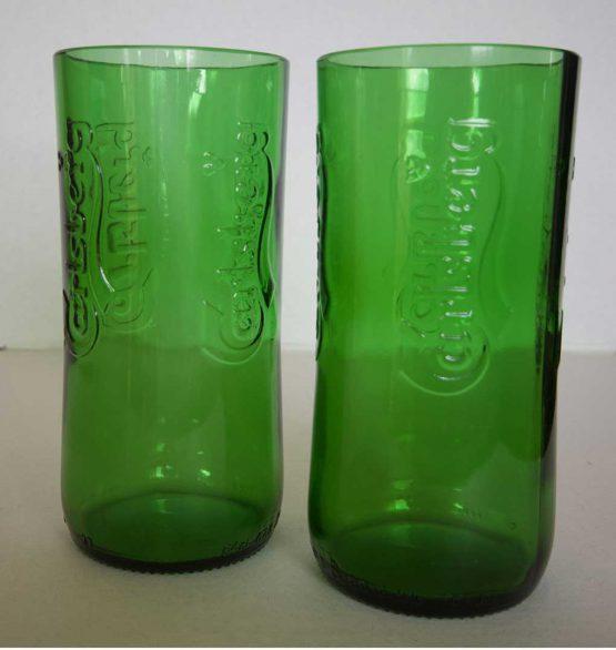 carlsberg beer bottle glasses