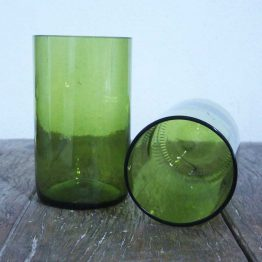 wine bottle glasses green