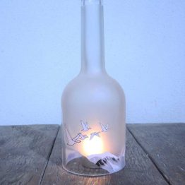 grey goose bottle candle holder