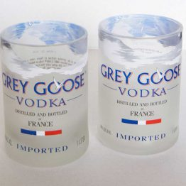 scotch glasses made from grey goose bottles