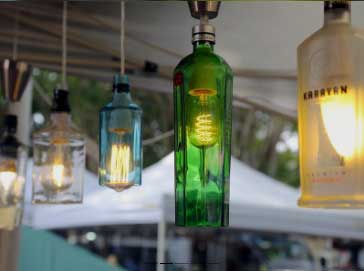 bottle lights made from bottle