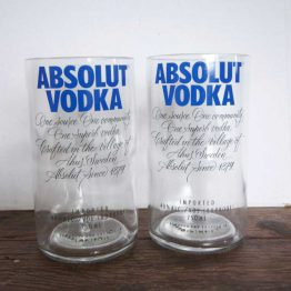 absolut vodka bottle glasses