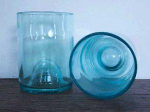 glasses made from wine bottles