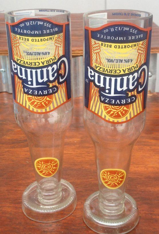 glass bottle cantina glasses
